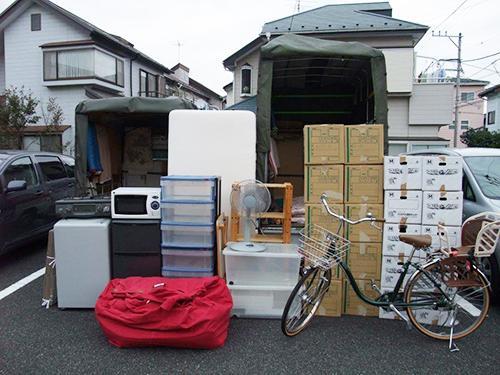 引越しのお荷物は赤帽車に積むことが可能
