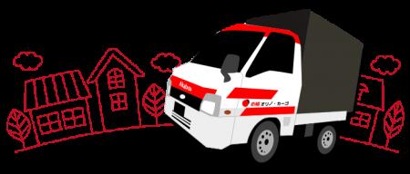 赤帽の軽トラック(赤帽車)イラスト
